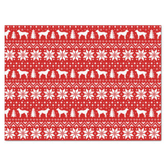 Anatolian Shepherd Dogs Christmas Pattern Tissue Paper