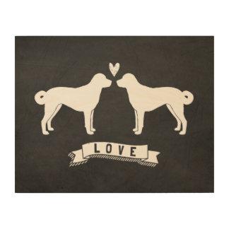 Anatolian Shepherd Dogs Love Wood Print