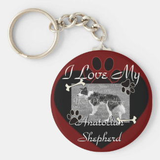 Anatolian Shepherd Basic Round Button Keychain