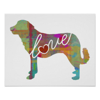 Anatolian Shepherd Love: A Modern Watercolor Print