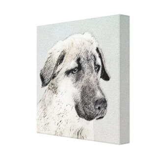 Anatolian Shepherd Painting - Original Dog Art Canvas Print