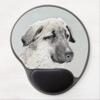 Anatolian Shepherd Painting - Original Dog Art Gel Mouse Pad