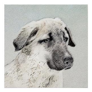 Anatolian Shepherd Painting - Original Dog Art Poster