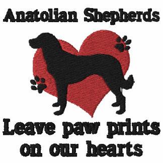 Anatolian Shepherds Leave Paw Prints Embroidered Hooded Sweatshirt