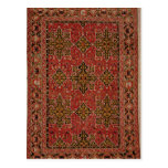 Anatolian Star Ushak carpet, 1585 Postcard