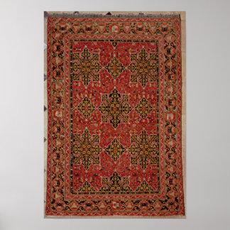 Anatolian Star Ushak carpet, 1585 Posters