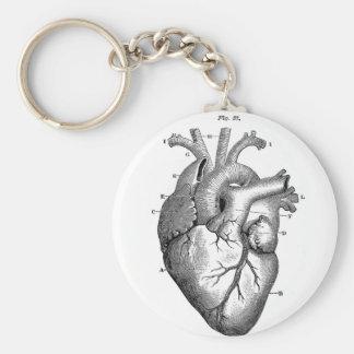 Anatomía-Corazón-Imagen-Vintage Llavero