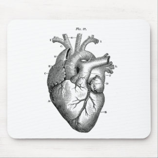 Anatomía-Corazón-Imagen-Vintage Tapetes De Ratón