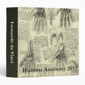 """Anatomía de la mano humana de Leonardo da Vinci Carpeta 1 1/2"""""""