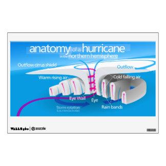 Anatomía de un diagrama del huracán vinilo decorativo