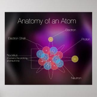 Anatomía de un poster del átomo
