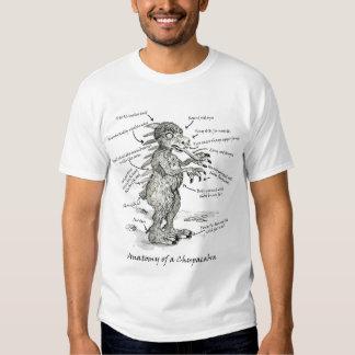 Anatomía de una camiseta del Chupacabra Remera