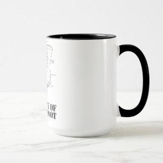 Anatomía de una taza de café de la bota del salto