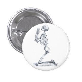 Anatomía del botón de los huesos pin redondo de 1 pulgada