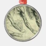 Anatomía del brazo y del hombro de Leonardo da Adorno Navideño Redondo De Metal