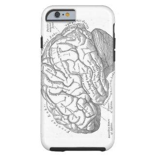 Anatomía del cerebro del vintage funda de iPhone 6 tough