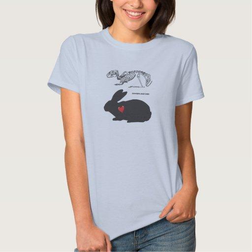 Anatomía del conejito t-shirts