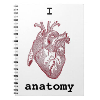 Anatomía del corazón I Spiral Notebooks