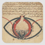 Anatomía del ojo, de un libro en enfermedades calcomania cuadradas personalizada