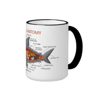 Anatomía del tiburón tazas de café