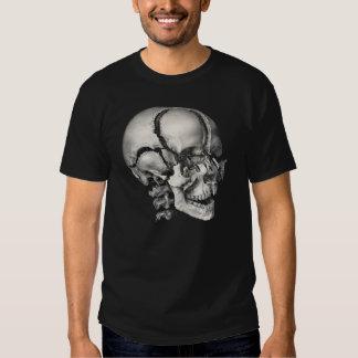 Anatomía humana de la ciencia del vintage, cráneo poleras