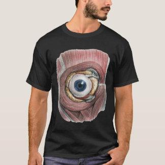 Anatomía humana del vintage, ojo del globo del ojo playera