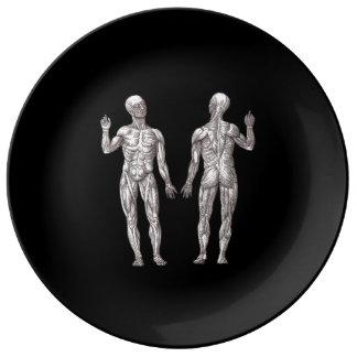 Anatomía humana - el sistema muscular plato de cerámica