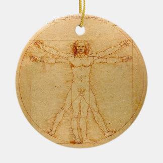 Anatomía humana, hombre de Vitruvian de Leonardo Ornamento Para Arbol De Navidad