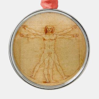 Anatomía humana, hombre de Vitruvian de Leonardo Ornamentos De Navidad
