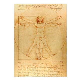 "Anatomía humana, hombre de Vitruvian de Leonardo Invitación 4.5"" X 6.25"""