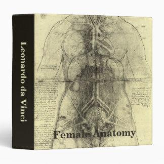 """Anatomía humana, torso femenino de Leonardo da Carpeta 1 1/2"""""""