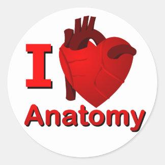 Anatomía I <3 Pegatina Redonda