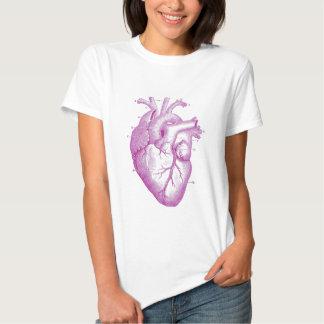 Anatomía púrpura del corazón del vintage playera