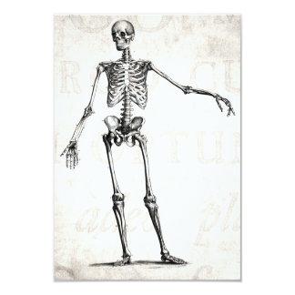 """Anatomía retra esquelética de los esqueletos de invitación 3.5"""" x 5"""""""