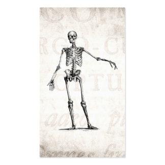 Anatomía retra esquelética de los esqueletos de lo tarjetas de visita