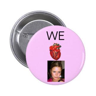 Anatomic Heart Casey Pink Button