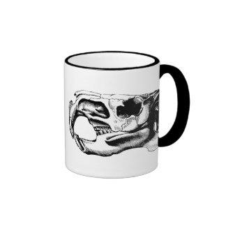 Anatomical Beaver Skull Black & White Coffee Mug