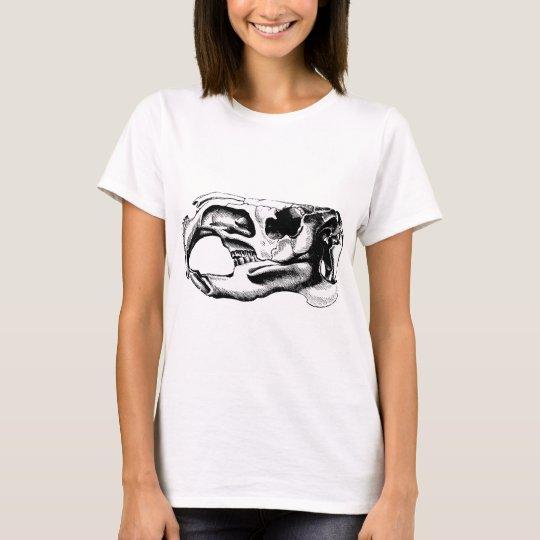 Anatomical Beaver Skull Black & White T-Shirt