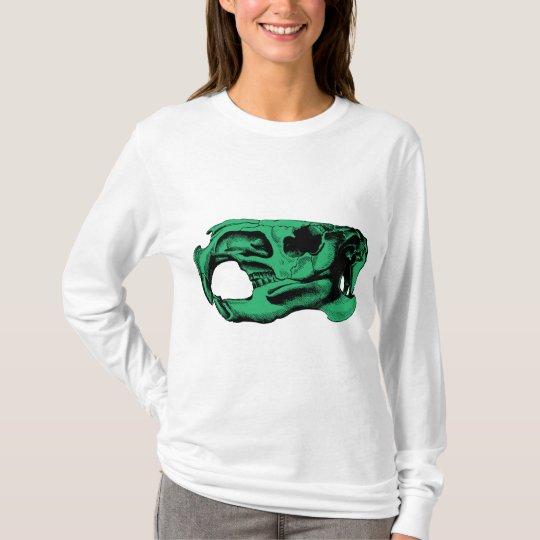 Anatomical Beaver Skull Green T-Shirt