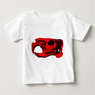 Anatomical Beaver Skull Red Baby T-Shirt