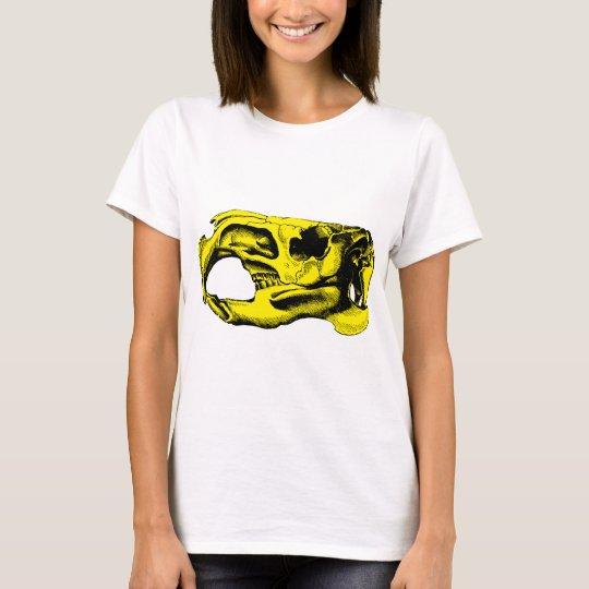 Anatomical Beaver Skull Yellow T-Shirt