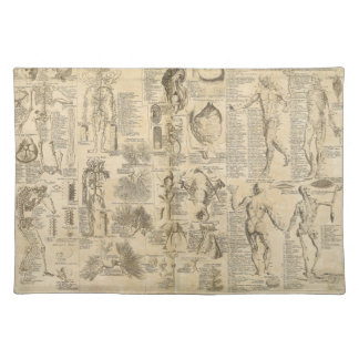 Anatomical Chart from Cyclopaedia 1728 Cloth Placemat