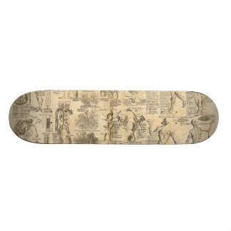 Anatomical Chart from Cyclopaedia 1728 Skateboard