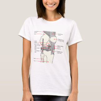 Anatomical Diagram of a Human Right Knee Joint T-Shirt