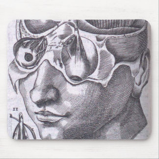 Anatomical Face with Musculature Mouse Pad
