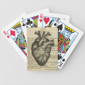 anatomical heart bicycle playing cards