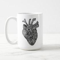 Anatomical Heart Doodle Mug