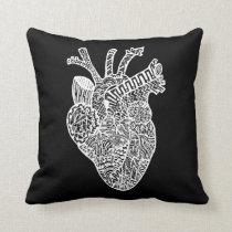 Anatomical Heart Doodle Pillow