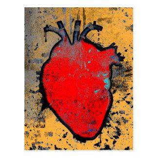 anatomical heart postcard