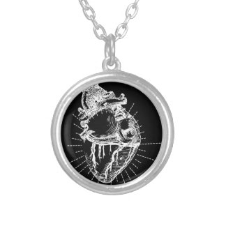 Anatomical Heart Silver Plated Necklace